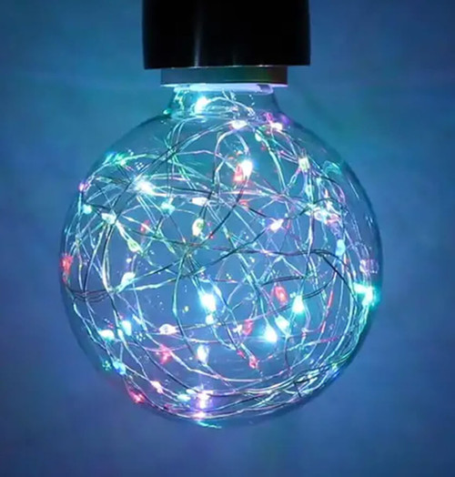 Prolite LED Star Effect Globe 1.7W E27 Funky Filaments Colour Changing Clear Image 1