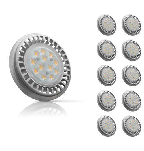 Crompton Lamps LED GU10 AR111 12.5W (10 Pack) Cool White 30° (100W Eqv) Image 1