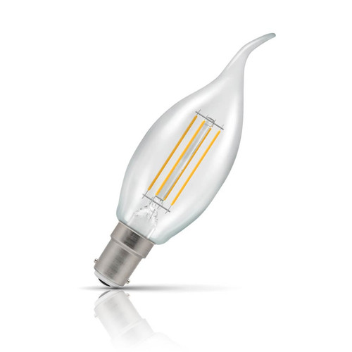Crompton Lamps Dimmable LED Bent Tip Candle 5W B15 Filament Warm White Clear (40W Eqv) Image 1