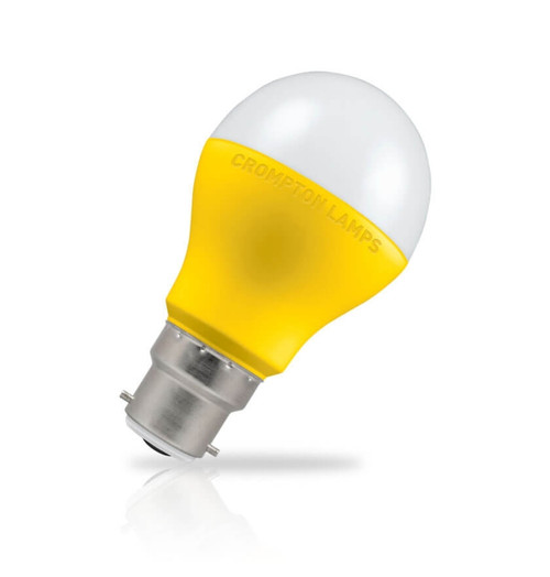 Crompton Lamps LED GLS 9W B22 110V Cool White Opal Yellow (60W Eqv) Image 1