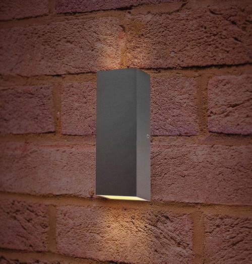 Integral LED Wall Light 8W Pablo Warm White Dark Grey Image 1