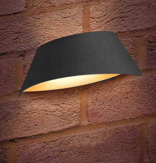 Integral LED Wall Light 9W Vistalux Warm White Dark Grey Image 1
