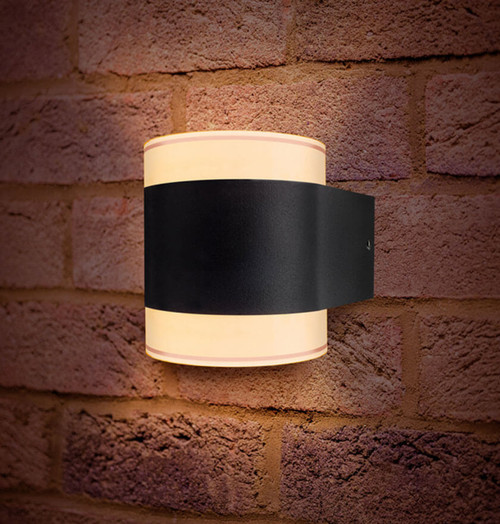 Integral LED Wall Light 8.4W LumiDisc Warm White Dark Grey Image 1