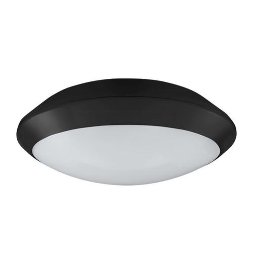 Phoebe LED Bulkhead 15W Melana Warm White 110° Diffused Black Image 1