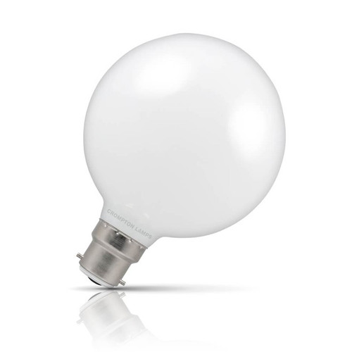 Crompton Lamps Dimmable LED Globe 7W B22 Warm White Opal Image 1