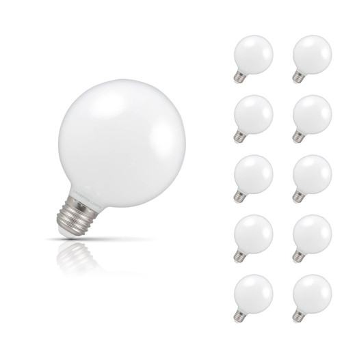 Crompton Lamps Dimmable LED Globe 7W E27 (10 Pack) Warm White Opal Image 1