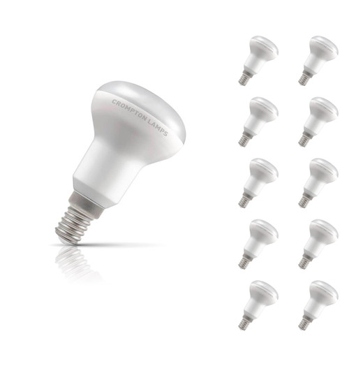 Crompton Lamps LED R50 Reflector 6W E14 (10 Pack) Warm White 110° Opal Image 1
