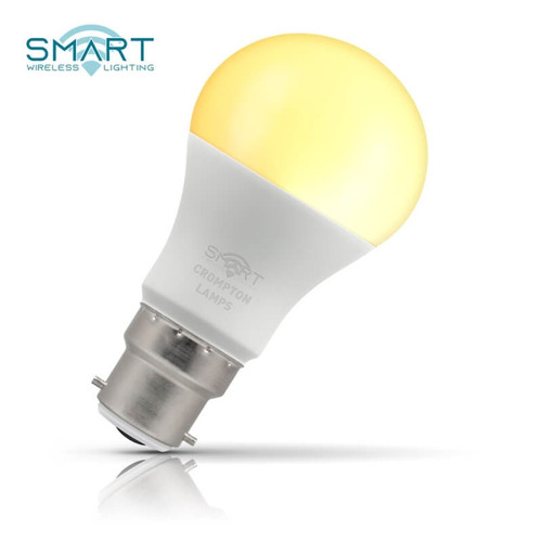 Crompton Lamps Dimmable LED Smart Wifi GLS 8.5W B22 Warm White Opal Image 1