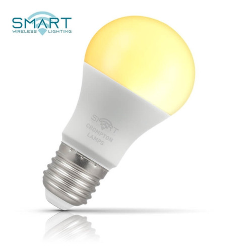 Crompton Lamps Dimmable LED Smart Wifi GLS 8.5W E27 Warm White Opal Image 1