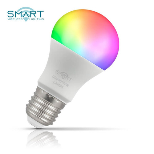 Crompton Lamps Dimmable LED Smart Wifi GLS 8.5W E27 Warm White + RGB Opal Image 1