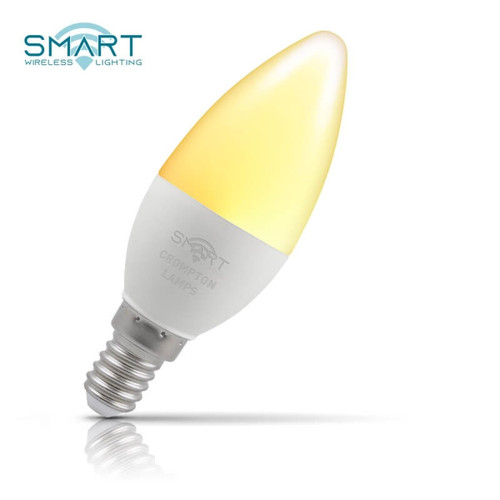 Crompton Lamps Dimmable LED Smart Wifi Candle 5W E14 Warm White Opal Image 1
