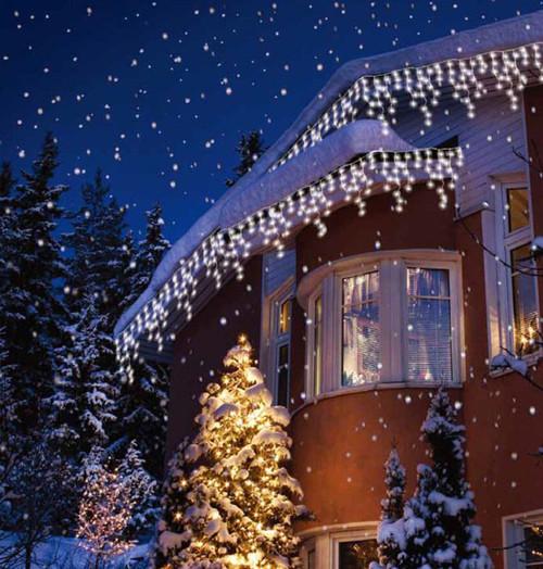 Sentik LED 17 Metre Snowing Icicle Light White (240 Lights) Image 1