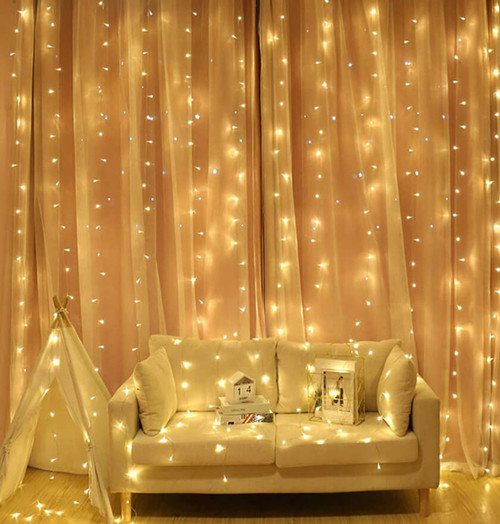 Sentik LED Curtain Light 300 Lights Image 1