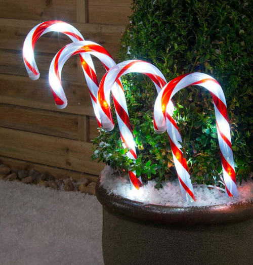 Sentik LED Candy Cane Stake Lights (4 Pack) Image 1