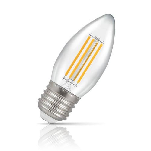 Crompton Lamps LED Candle 6.5W E27 Filament Warm White Clear (60W Eqv) Image 1
