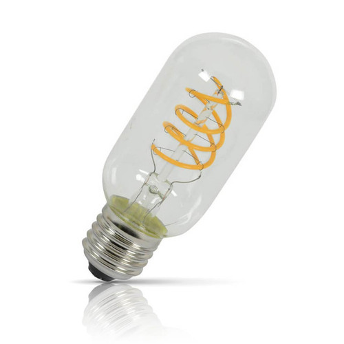 Lyyt Dimmable LED Spiral Filament T45 5W E27 Extra Warm White Amber Tinted Image 1