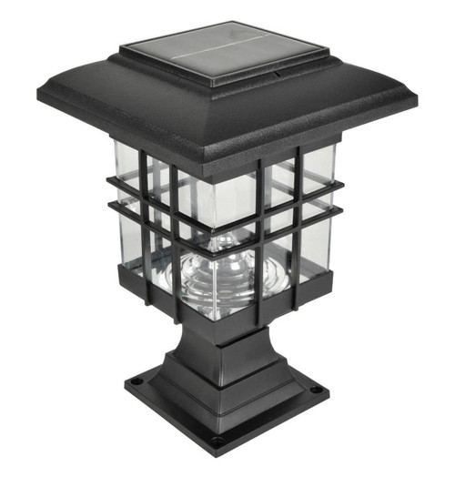 Lyyt LED Solar IP44 Lantern Daylight Black Image 1