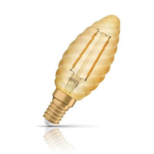 Osram LED Candle 2.5W E14 Vintage 1906 Twisted Extra Warm White Gold Image 1