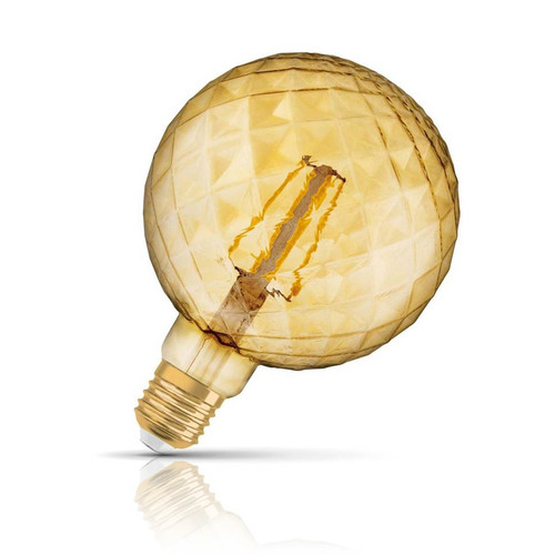 Osram LED G125 Globe 5W E27 Vintage 1906 Pinecone Extra Warm White Gold Image 1