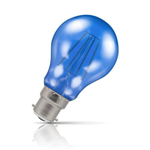 Crompton Lamps LED GLS 4.5W B22 Harlequin IP65 Blue Translucent Image 1