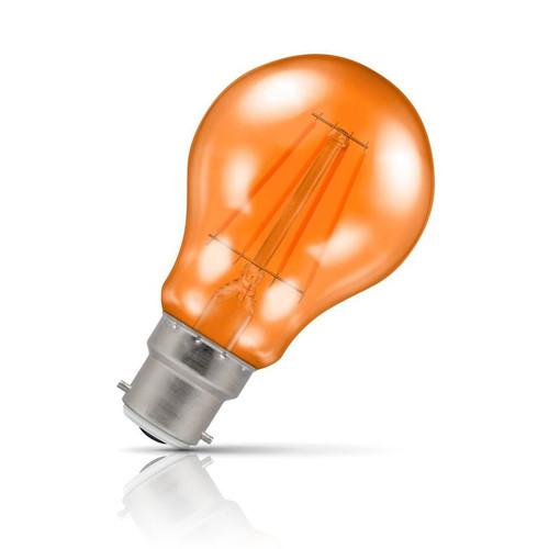 Crompton Lamps LED GLS 4.5W B22 Harlequin IP65 Orange Translucent Image 1