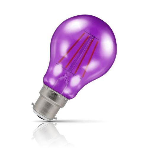 Crompton Lamps LED GLS 4.5W B22 Harlequin IP65 Purple Translucent Image 1