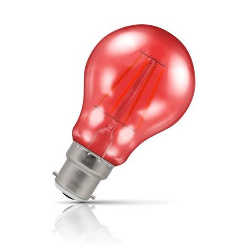 Crompton Lamps LED GLS 4.5W B22 Harlequin IP65 Red Translucent Image 1