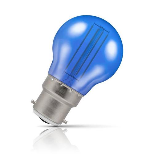 Crompton Lamps LED Golfball 4.5W B22 Harlequin IP65 Blue Translucent Image 1