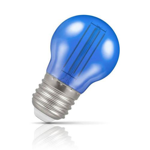Crompton Lamps LED Golfball 4.5W E27 Harlequin IP65 Blue Translucent Image 1