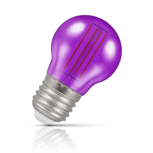 Crompton Lamps LED Golfball 4.5W E27 Harlequin IP65 Purple Translucent Image 1