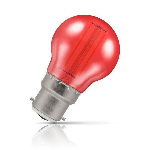 Crompton Lamps LED Golfball 4.5W B22 Harlequin IP65 Red Translucent Image 1
