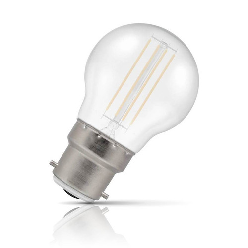 Crompton Lamps LED Golfball 4.5W B22 Harlequin IP65 White Translucent Image 1