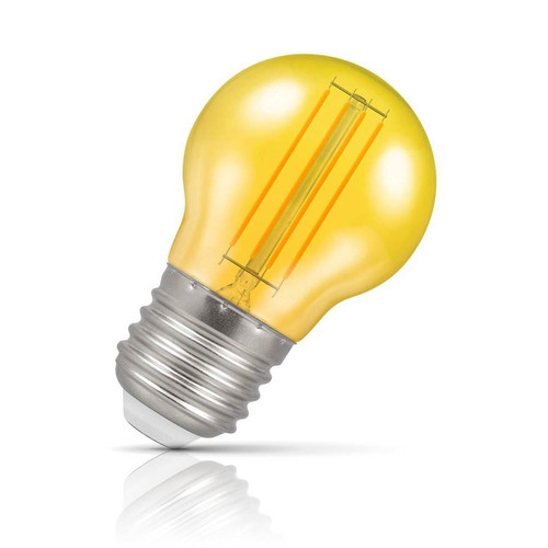 Crompton Lamps LED Golfball 4.5W E27 Harlequin IP65 Yellow Translucent Image 1