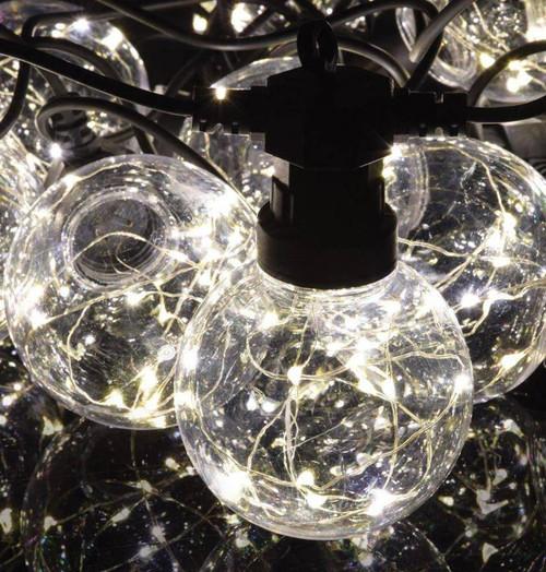 Lyyt LED 7.5 Metre Festoon Waterproof Warm White (10 Lights) Image 1