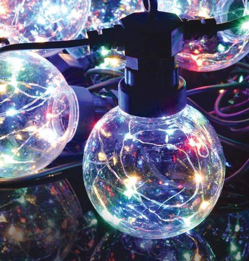 Lyyt LED 7.5 Metre Festoon Waterproof Multi-Coloured (10 Lights) Image 1