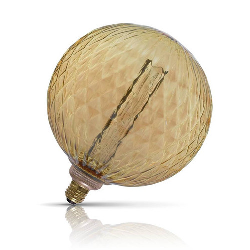 Lyyt Dimmable LED G200 Globe 3.5W E27 Textured Extra Warm White Amber Tinted Image 1