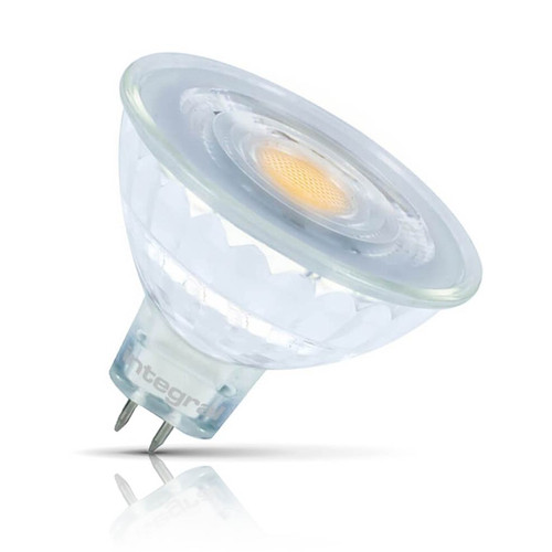 Integral LED MR16 Spotlight 4.8W GU5.3 12V Warm White 36° Clear Image 1