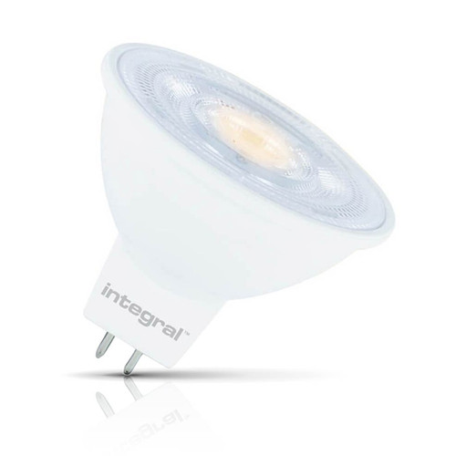 Integral LED Dimmable LED MR16 Spotlight 4.6W GU5.3 12V Warm White 36° Clear Image 1