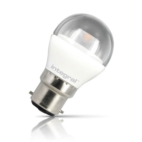 Integral LED Golfball 3.8W B22 Warm White Clear Image 1