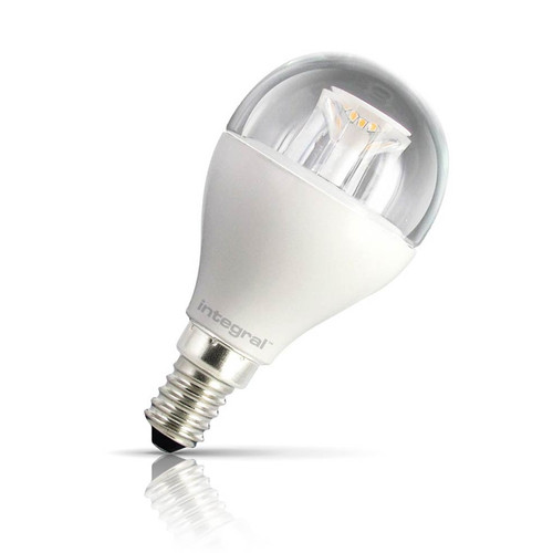 Integral LED Dimmable LED Golfball 6.5W E14 Warm White Clear Image 1