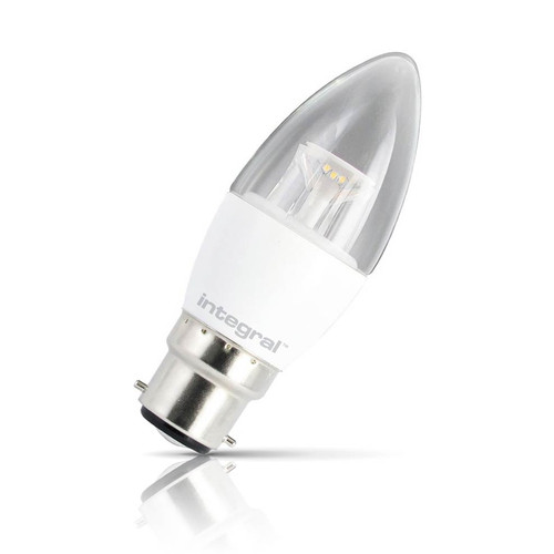 Integral LED Candle 6W B22 Warm White Clear Image 1