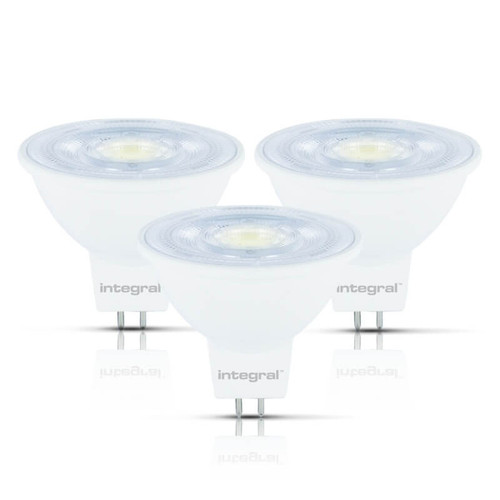 Integral LED Dimmable LED MR16 Spotlight 4.6W GU5.3 12V Cool White 36°° Clear (3 Pack) Image 1