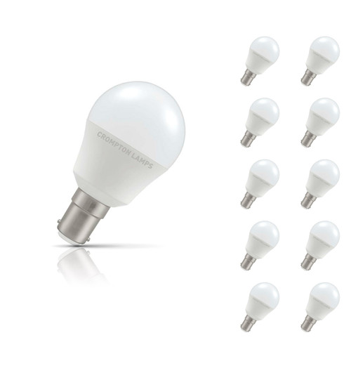 Crompton Lamps LED Golfball 5.5W B15 (10 Pack) Warm White Opal (40W Eqv) Image 1