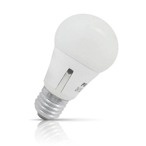Prolite LED Sensor Light GLS 6.5W E27 Dusk To Dawn Warm White Opal
