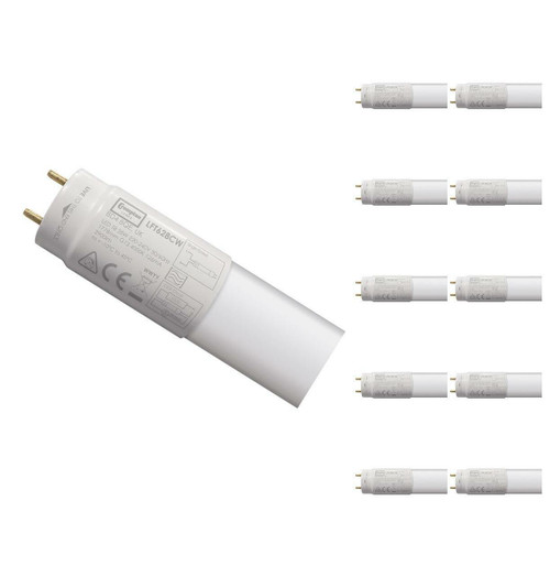 Crompton Lamps LED 6ft T8 Tube 28W (10 Pack) Cool White