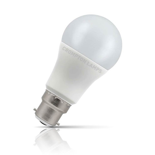 Crompton Lamps Dimmable LED GLS 11W B22 Daylight Opal (75W Eqv)