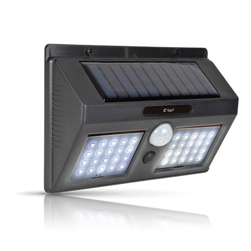 Lyyt LED Solar IP44 Security Light Daylight Black Image 1