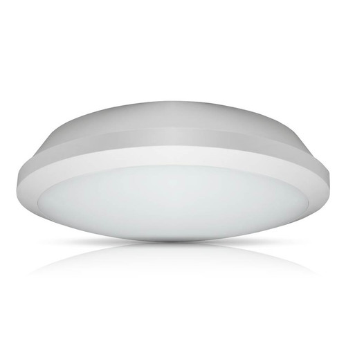 Phoebe LED Bulkhead 15W Melana CCT 3-Hour Emergency Tri-Colour CCT 120° Diffused White IP65 Image 1