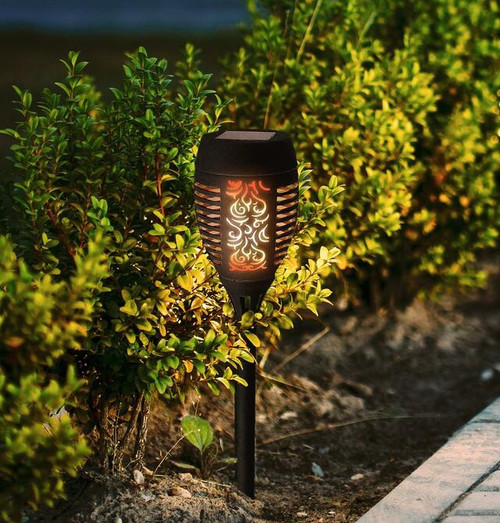 Solalite LED Solar Dancing Flame Path Light Image 1