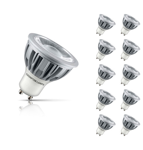 Crompton Lamps Dimmable LED GU10 Spotlight 5W (10 Pack) Warm White 45° Image 1